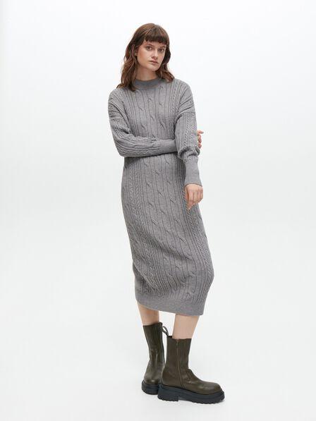 Reserved - Oversize knit dress - Grey
