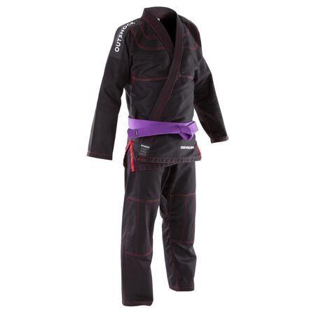 OUTSHOCK - A1 165-175Cm 500 Brazilian Jiu-Jitsu Adult Uniform - Black