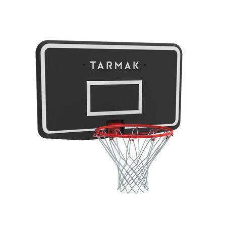 TARMAK - Unique Size  Kids'/Adult Wall-Mounted Basketball Hoop SB100 - Black/Red., Black