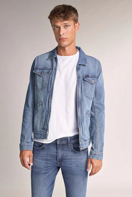 Salsa Jeans - Blue Zip-up denim jacket