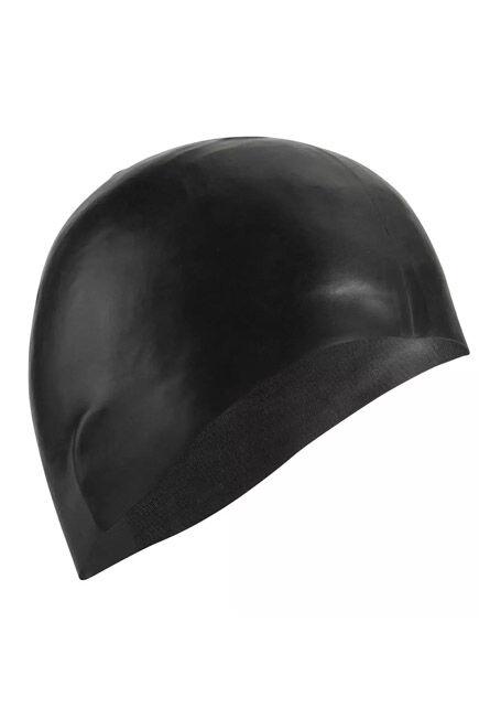 NABAIJI - 500 Silicone Swim Cap - Black, Unique Size