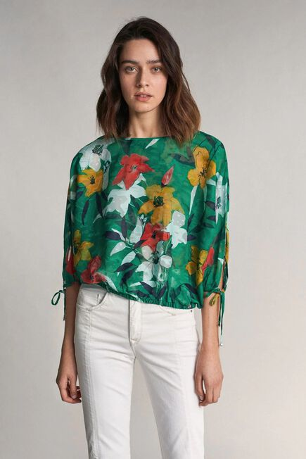 Salsa Jeans - Green Tunic with floral print