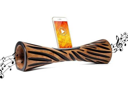 MANGOBEAT - Mangobeat Natural Speaker for Smartphones Griffe Maroon [35 cm]