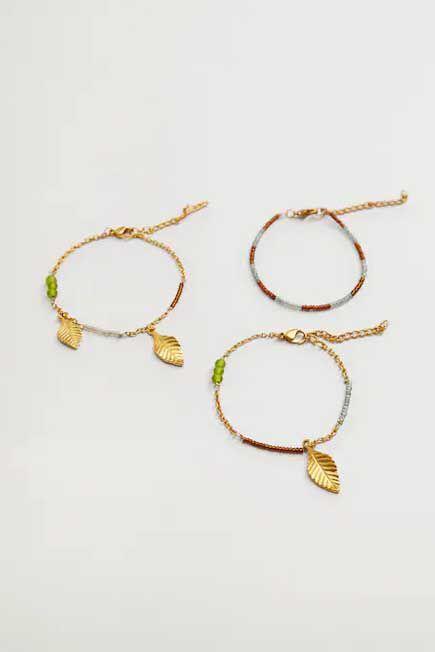 Mango - Gold Mixed Bracelet Set, Women