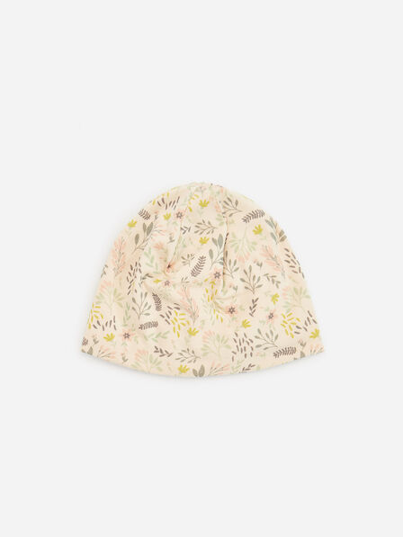 Reserved - Kids' Patterned Cotton Rich Beanie - Beige