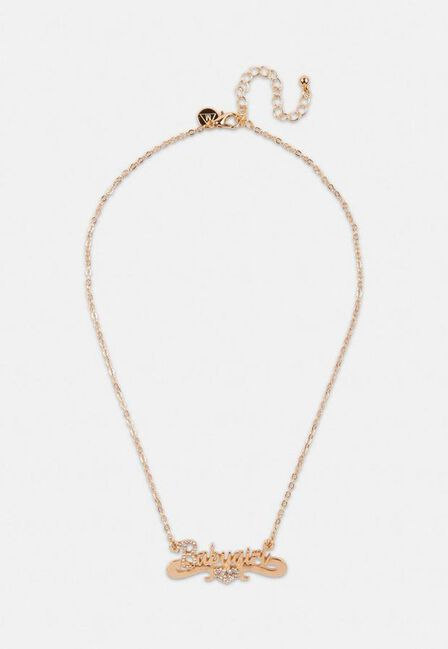 Missguided - Gold Gold Look Babygirl Swirl Pendant Necklace