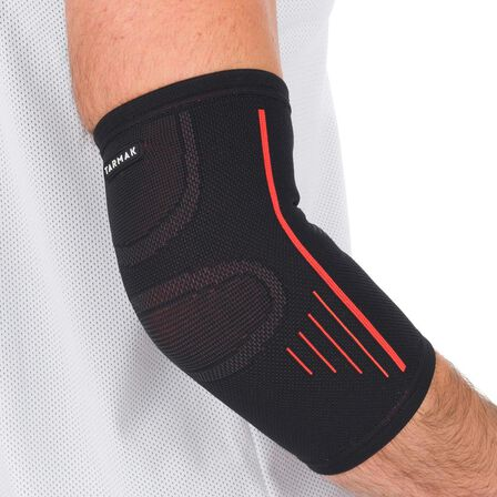 TARMAK - 2  Soft 300 Right/Left Men's/Women's Elbow Support - Black, Black