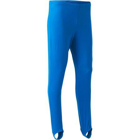 DOMYOS - 10-11Y  Men's Artistic Gymnastics Stirrup Pants, Electric Blue