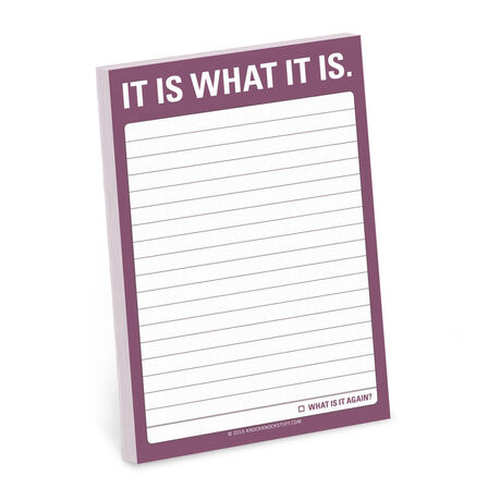 KNOCK KNOCK - Knock Knock Great Big Stickies It Is What It Is Notebook