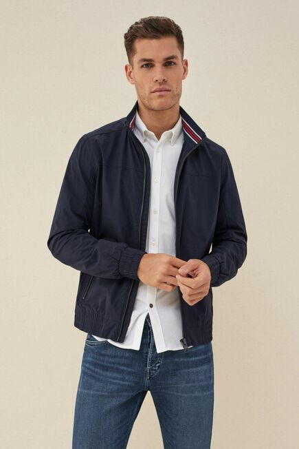 Salsa Jeans - Blue Windproof nylon jacket