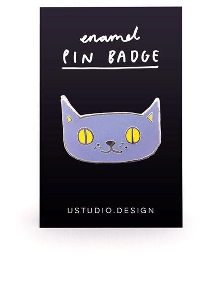 USTUDIO DESIGN LTD - Ustudio Pin Badge Lilac Cat