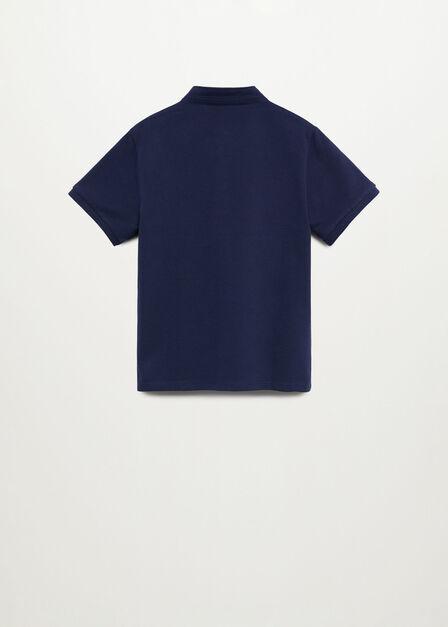 Mango - navy Mao collar polo shirt