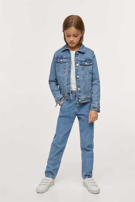 Mango - open blue Pockets denim jacket, Kids Girl