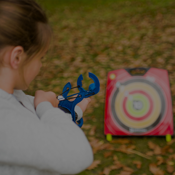 image of a girl doing archery